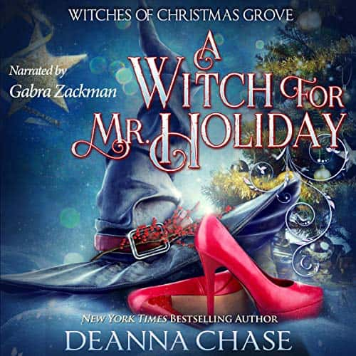 Audiobook cover for A Witch for Mr. Holiday audiobook by Deanna Chase