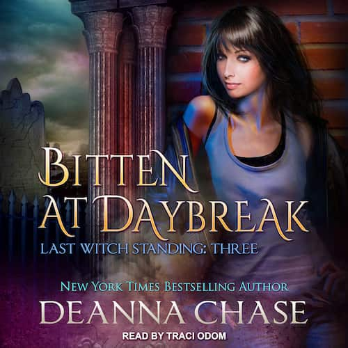 Audiobook cover for Bitten at Daybreak audiobook by Deanna Chase