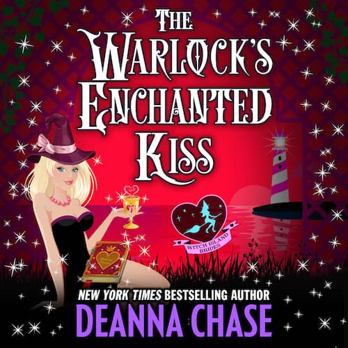 Audiobook cover for The Warlock's Enchanted Kiss audiobook by Deanna Chase