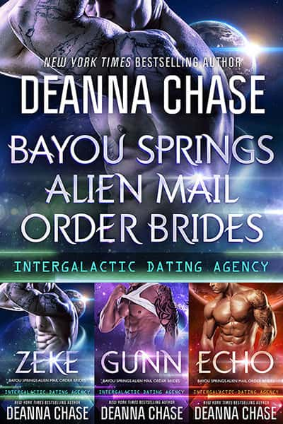 Book cover for Bayou Springs Alien Mail Order Brides Box Set by Deanna Chase