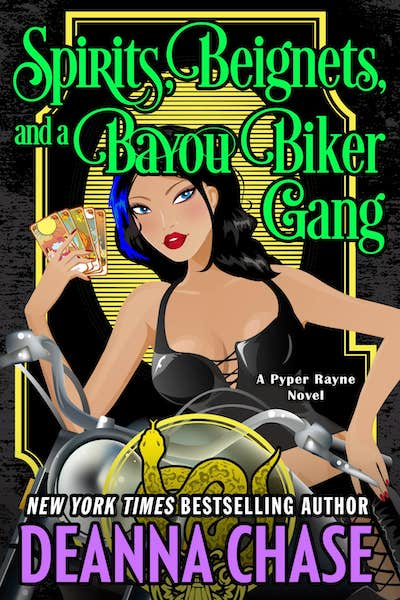 Book cover for Spirits, Beignets, and a Bayou Biker Gang by Deanna Chase