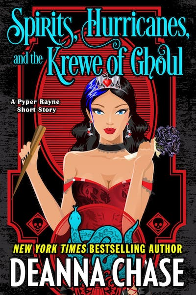 Book cover for Spirits, Hurricanes, and the Krewe of Ghoul by Deanna Chase