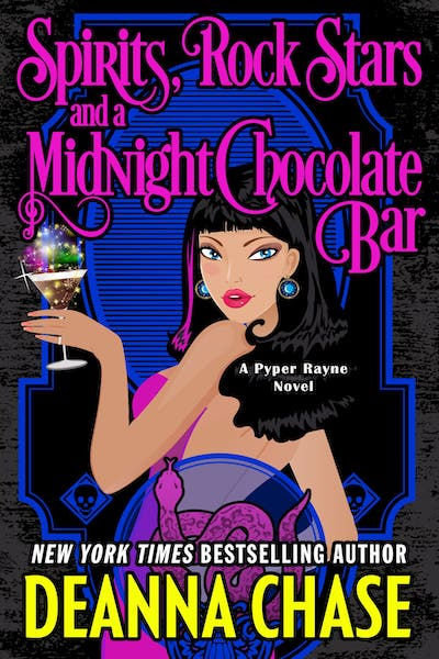 Book cover for Spirits, Rock Stars, and a Midnight Chocolate Bar by Deanna Chase