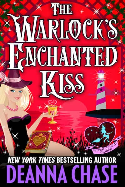 Book cover for The Warlock's Enchanted Kiss by Deanna Chase